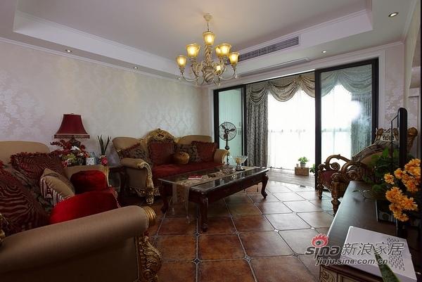美式 二居 客厅图片来自用户1907685403在110平时尚公寓爱上美式风36的分享