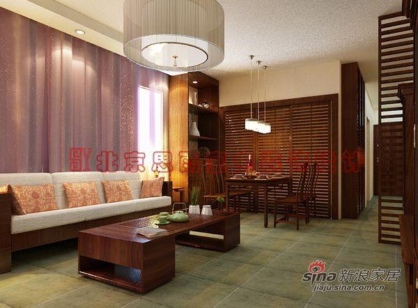 中式 三居 客厅图片来自用户1907659705在135平米现代新中式3居室57的分享