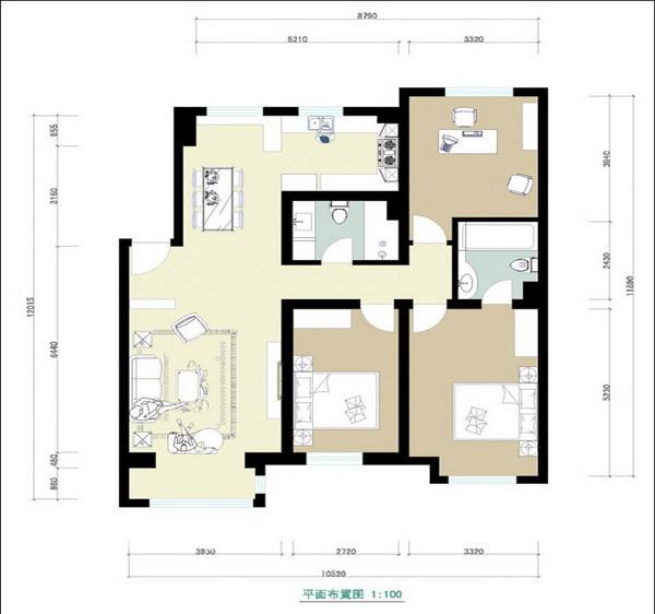 简约 三居 客厅图片来自用户2556216825在阔气黑白红93的分享