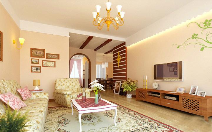 田园 二居 客厅图片来自用户2737791853在20万装110平田园简约混搭舒适居33的分享