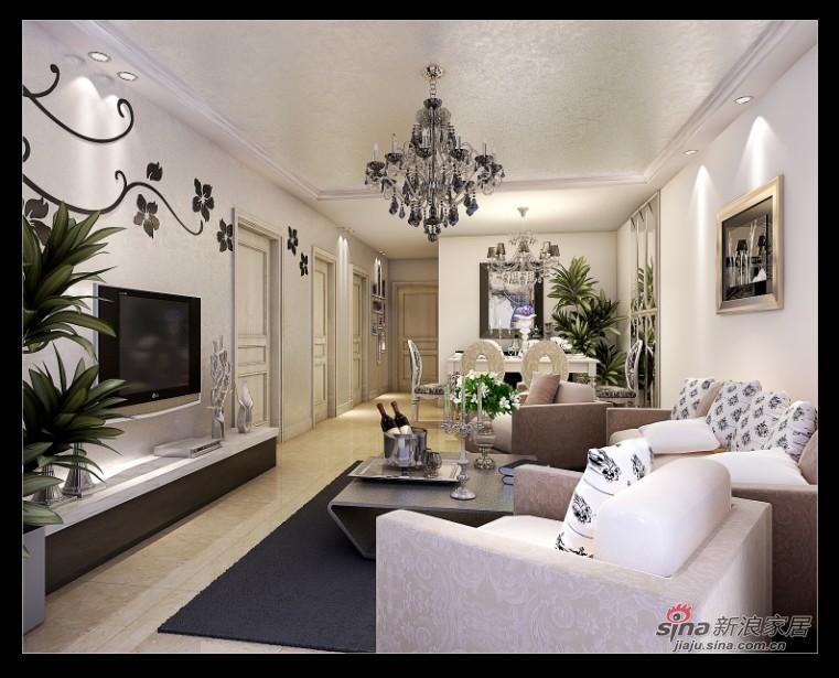 简约 二居 客厅图片来自用户2737782783在80平温馨时尚简约2居5万36的分享