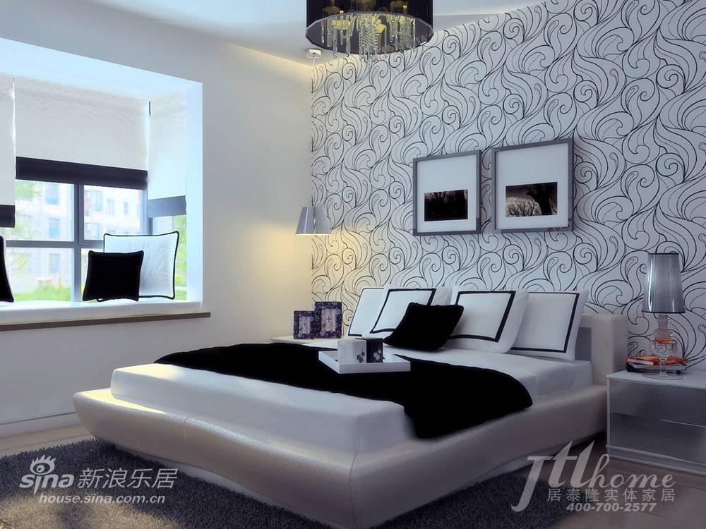 简约 三居 卧室图片来自用户2737735823在游走于黑白之间 纯正简约风格清爽家居方案61的分享