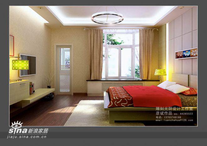 简约 三居 卧室图片来自用户2557979841在136平米精装修82的分享