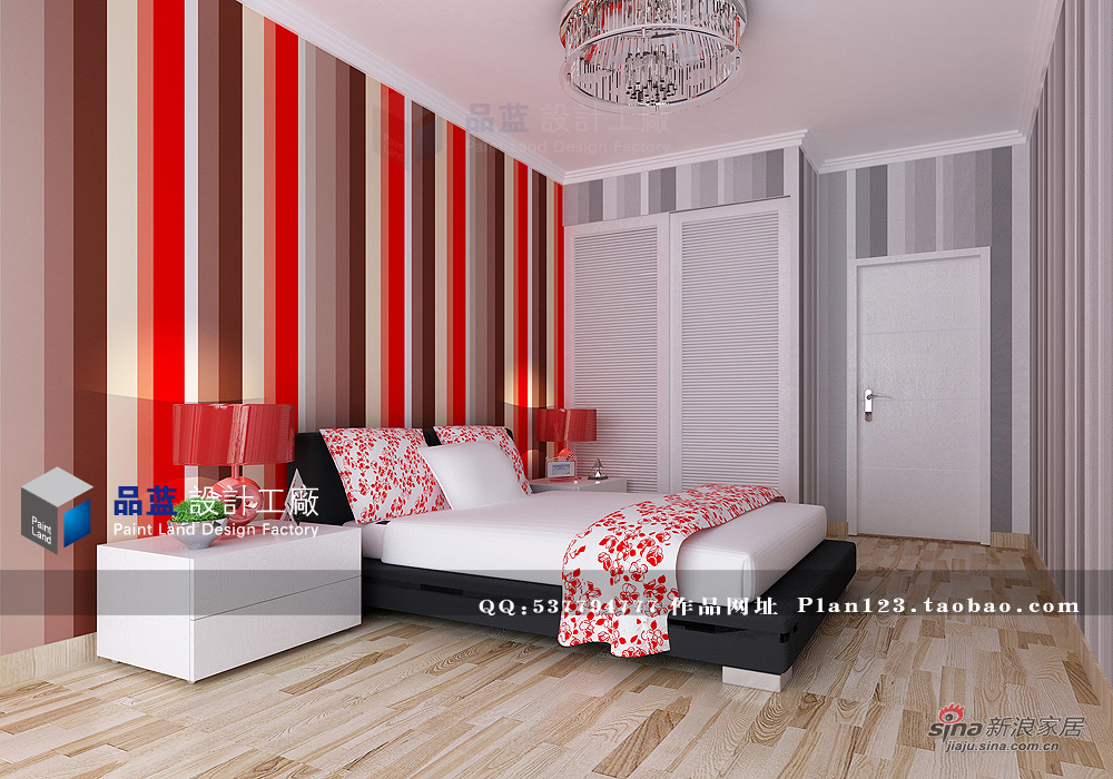 简约 三居 卧室图片来自用户2739153147在【高清】13万打造120平臆想中女人花97的分享