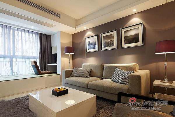 现代 三居 客厅图片来自佰辰生活装饰在9万打造110平质感元素三居室36的分享