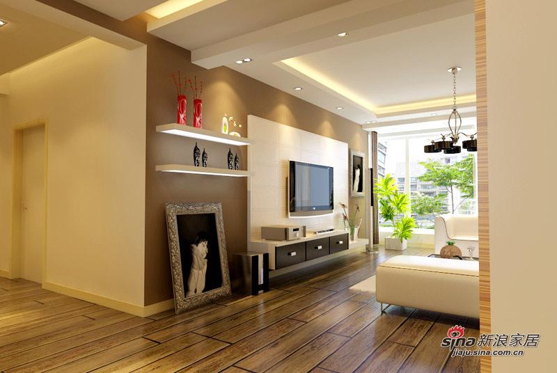 简约 二居 客厅图片来自用户2738093703在5.5万铸造现代简约两居室74的分享