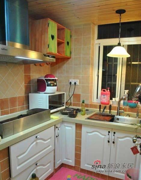 田园 二居 厨房图片来自用户2737791853在72平蜗牛居变身唯美田园家61的分享