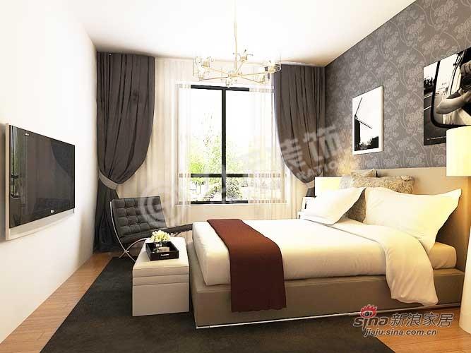 简约 二居 卧室图片来自阳光力天装饰在松江东湖小镇77的分享