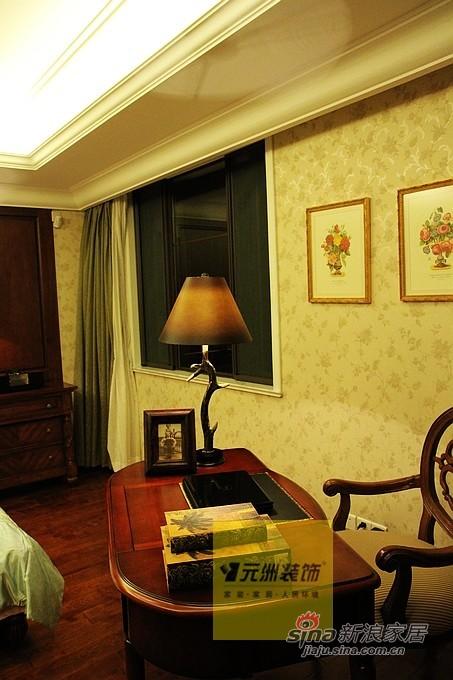 美式 别墅 卧室图片来自用户1907685403在【多图】23万打造280平北京玫瑰园37的分享