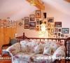 客厅-时光隧道+田园布艺沙发+荷比藤椅+偶自己DIY的灯