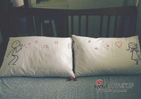 超可爱的新婚枕头
