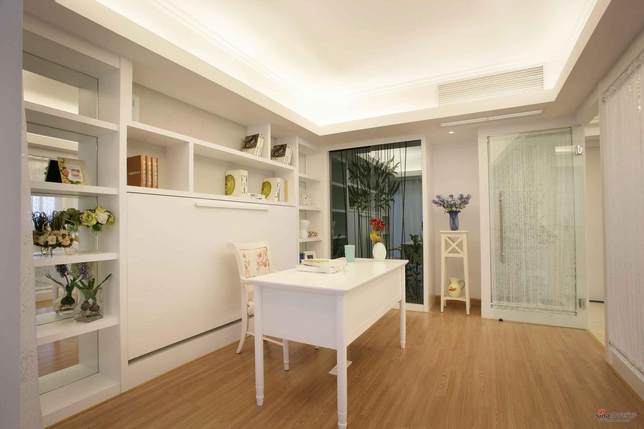 田园 二居 书房图片来自用户2557006183在浪漫田园 白领8万打造95平复式公寓40的分享