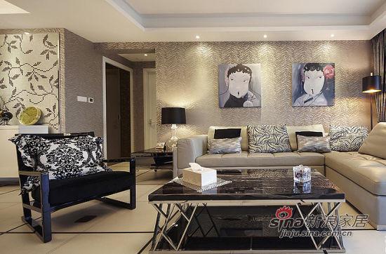 简约 二居 客厅图片来自佰辰生活装饰在新婚夫妻90平现代2居婚房94的分享