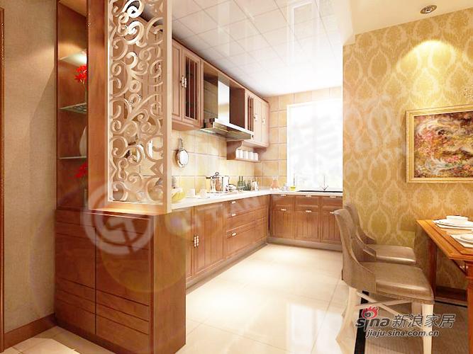 欧式 二居 厨房图片来自用户2772873991在78平米精致欧式小奢华92的分享