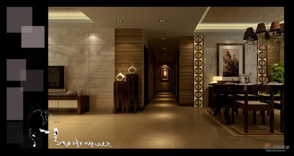 【高清】400平高档别墅中式风格效果图