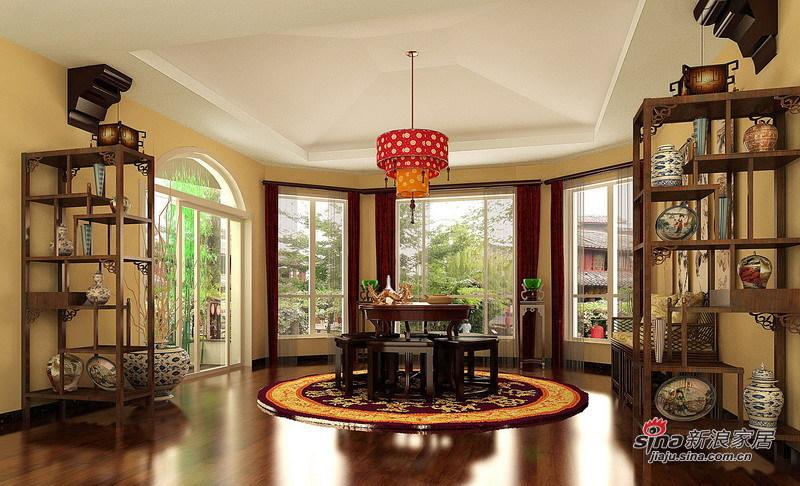 中式 四居 餐厅图片来自用户1907659705在顺义235㎡中式别墅设计案例68的分享