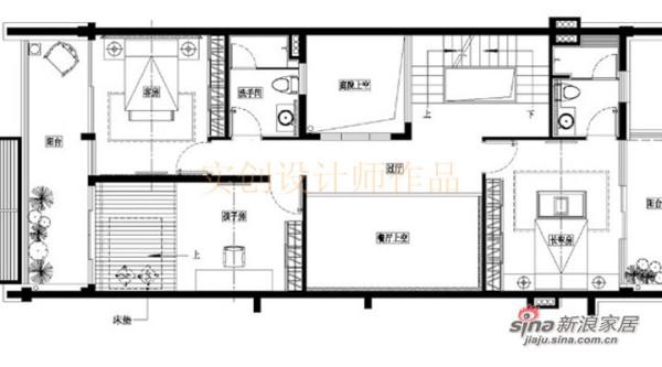 汀湘十里别墅中式风格装修设计-四层布置图