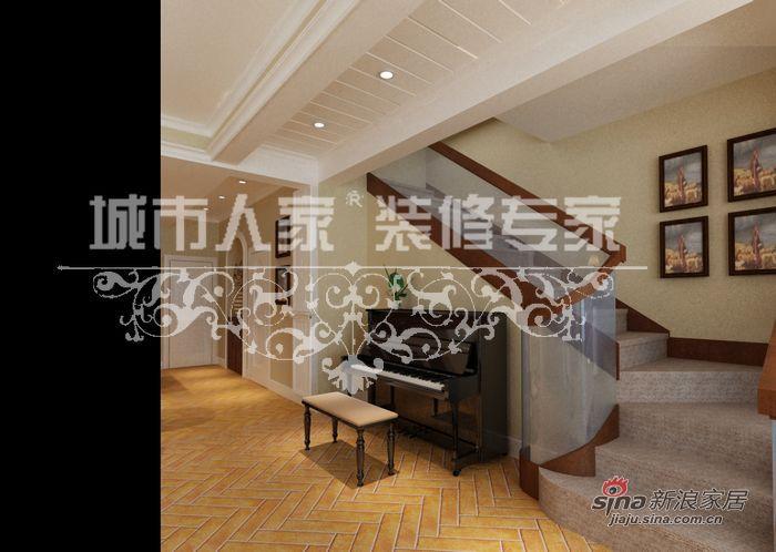 美式 别墅 楼梯图片来自用户1907686233在美式田园别墅案例33的分享