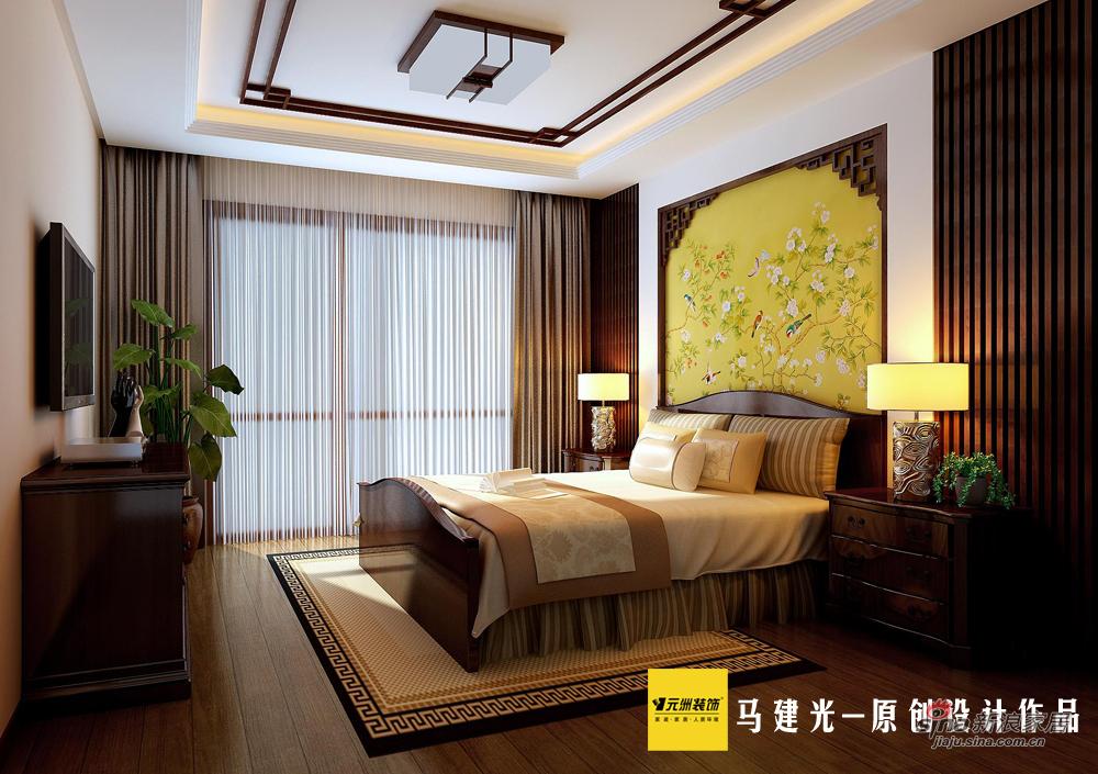 中式 三居 卧室图片来自用户1907696363在70后140平米韩家川精致中式风格三居64的分享