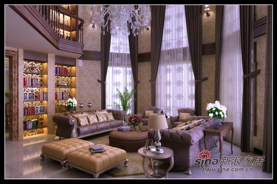 混搭 别墅 客厅图片来自用户1907689327在400㎡别墅的奢侈混搭58的分享