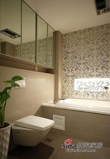 简约 三居 卫生间图片来自用户2738093703在时尚白领5.8万装110平现代温馨两室44的分享