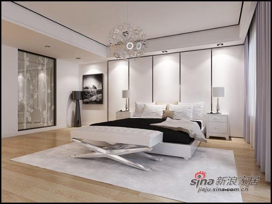 简约 三居 卧室图片来自用户2558728947在6.5万装83平简约舒适小3居53的分享