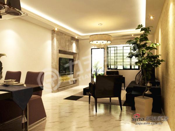 简约 二居 客厅图片来自阳光力天装饰在90平黑白主色调 彰显个性时尚98的分享
