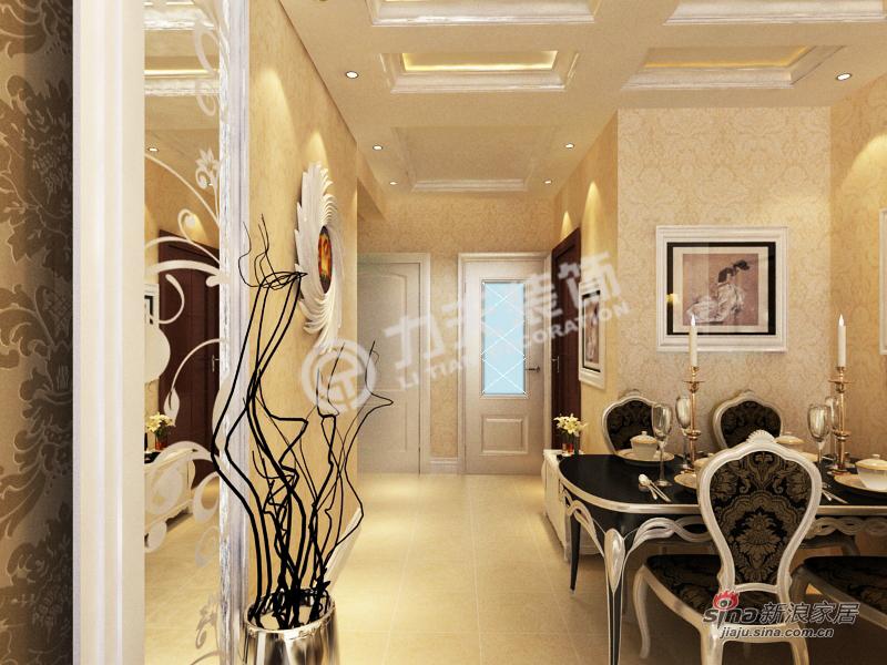 欧式 二居 餐厅图片来自阳光力天装饰在首创溪堤郡-2室2厅1卫1厨-简欧风格59的分享