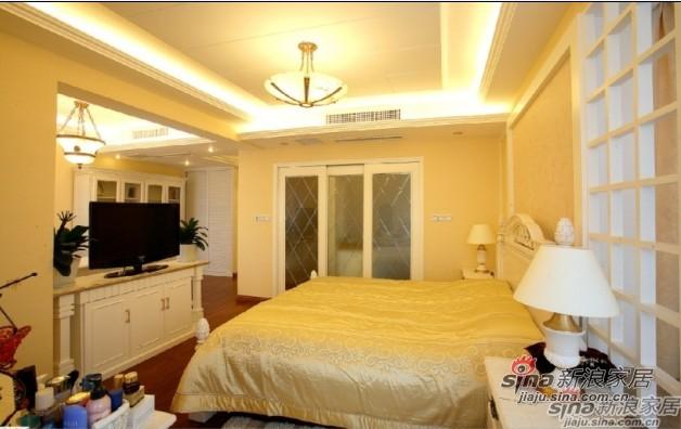 欧式 四居 卧室图片来自用户2557013183在14万装130㎡欧式雅致美家19的分享