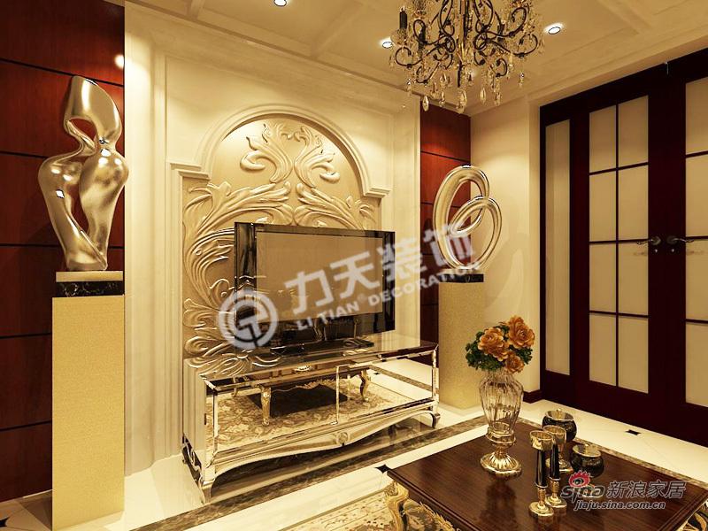 欧式 一居 客厅图片来自阳光力天装饰在上榀坐-1室2厅1卫1厨-欧式风格82的分享