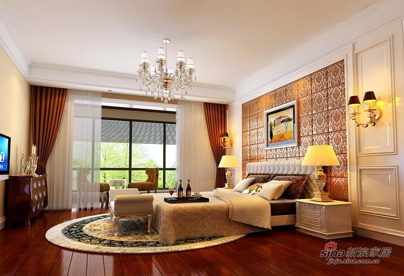 欧式 别墅 卧室图片来自用户2557013183在绝对惊艳280平简欧品质别墅生活73的分享