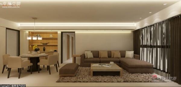 开放式的客餐厅规划,显现出空间的宽阔感