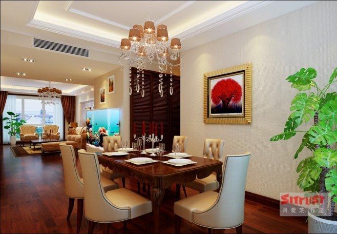 欧式 三居 餐厅图片来自用户2745758987在东湖湾130平米3居室简欧风格温馨家居91的分享
