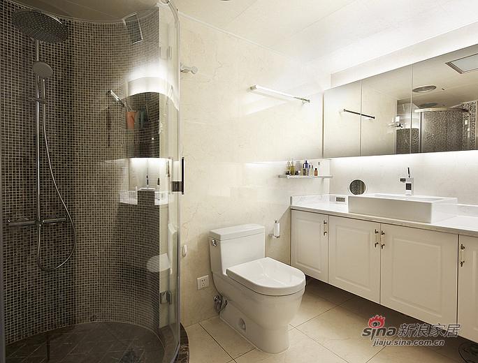 混搭 三居 卫生间图片来自装修微日记在【高清】165平后现代古典混搭时尚3居室17的分享
