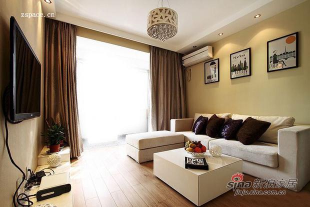 简约 二居 客厅图片来自用户2556216825在4.6万搞定80平浅咖浪漫2居17的分享