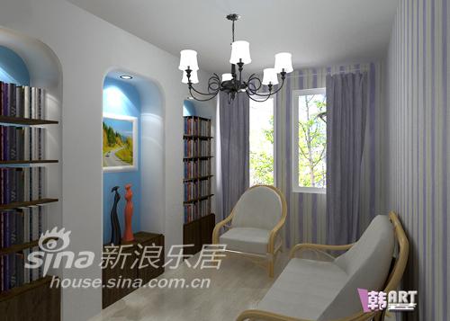 简约 二居 书房图片来自用户2738829145在经典蓝白配地中海风格53的分享