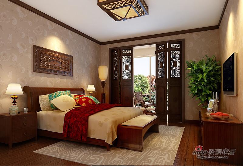 中式 四居 卧室图片来自用户1907661335在10万巧装160平四居室中式大气风格68的分享