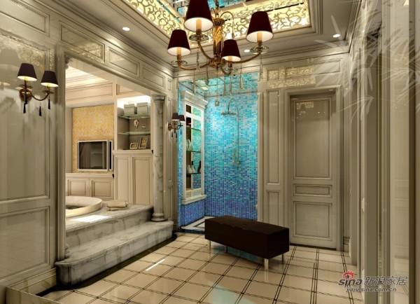 欧式风格的淋浴房