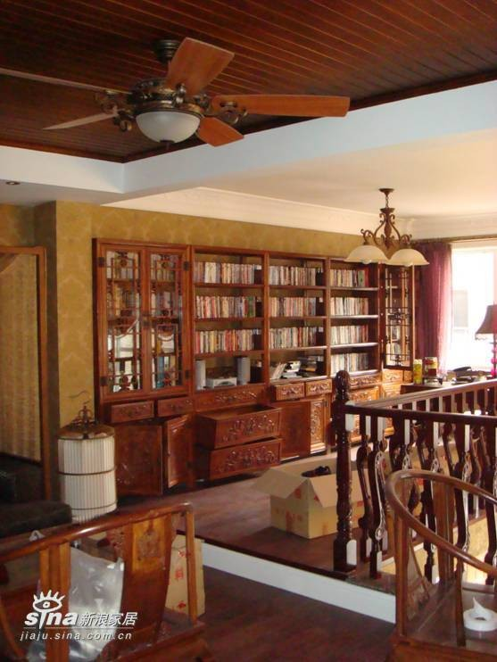 欧式 别墅 书房图片来自用户2772873991在中海安德鲁斯58的分享