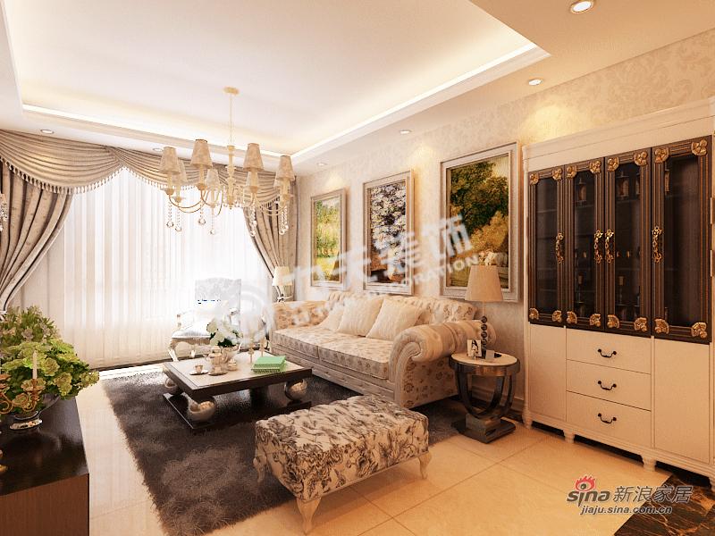 欧式 二居 客厅图片来自阳光力天装饰在雅诗兰亭-两室一厅一厨一卫-简欧风格25的分享