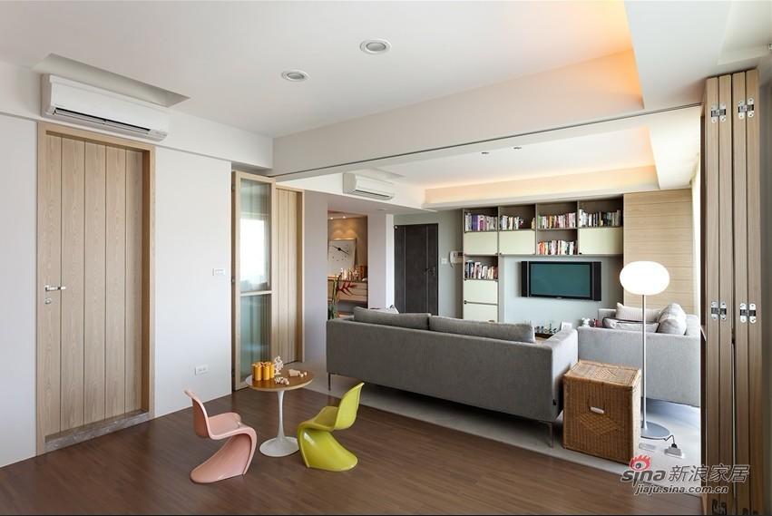 简约 二居 客厅图片来自用户2737950087在5.7万装118平简约收纳大两居室45的分享