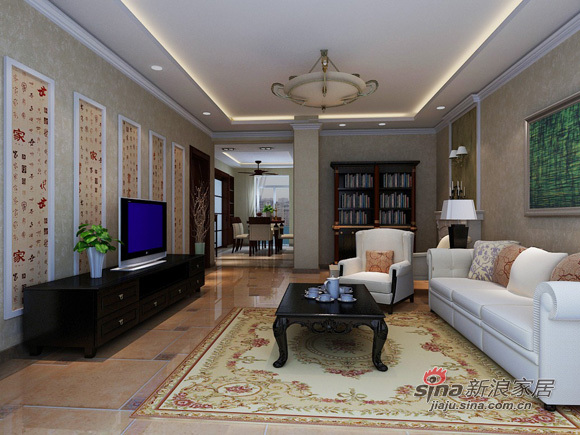 简约 二居 客厅图片来自用户2737782783在5万打造80平欧式美家79的分享