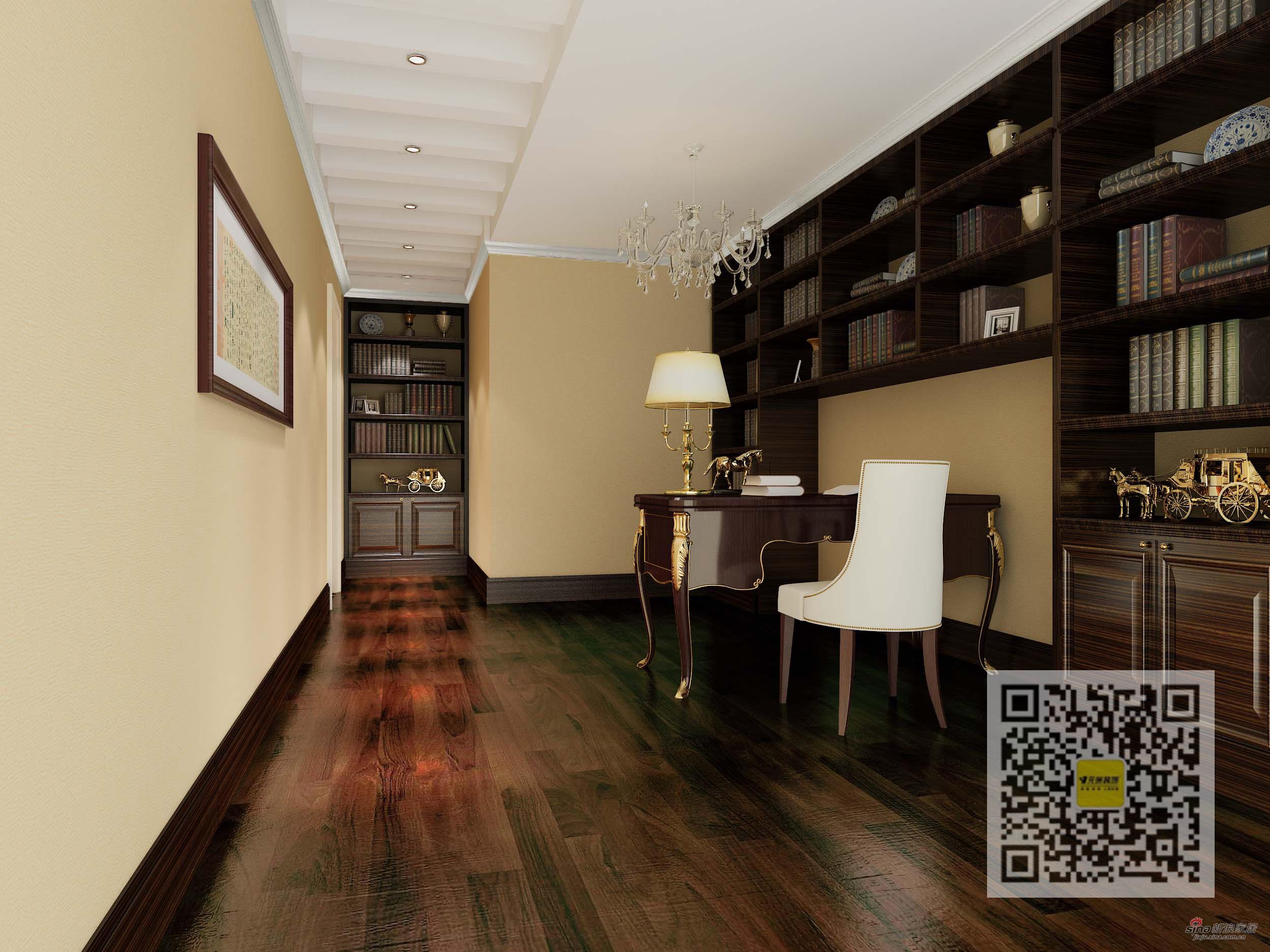 欧式 三居 书房图片来自用户2746869241在英特公寓三居室欧式风格69的分享