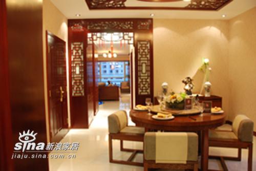 中式 三居 餐厅图片来自用户2757926655在湖景一号中式样板间46的分享
