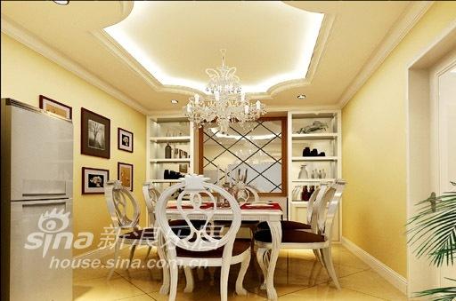 欧式 三居 餐厅图片来自用户2772856065在简洁轻快的欧式经典风格71的分享