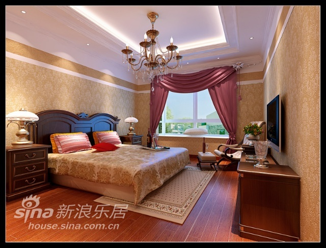 欧式 三居 客厅图片来自用户2746953981在152平米优雅欧式风情三居室33的分享