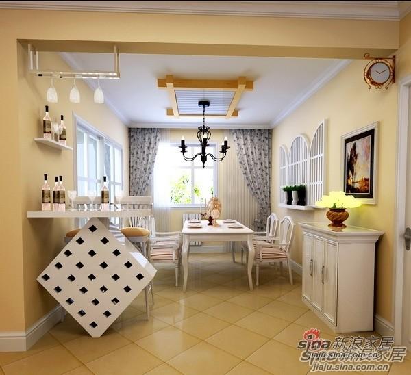 110平米高性价比3居爱家餐厅设计