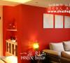 大红的沙发背景