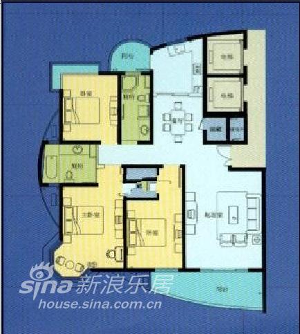 简约 三居 户型图图片来自用户2738093703在低调生活32的分享
