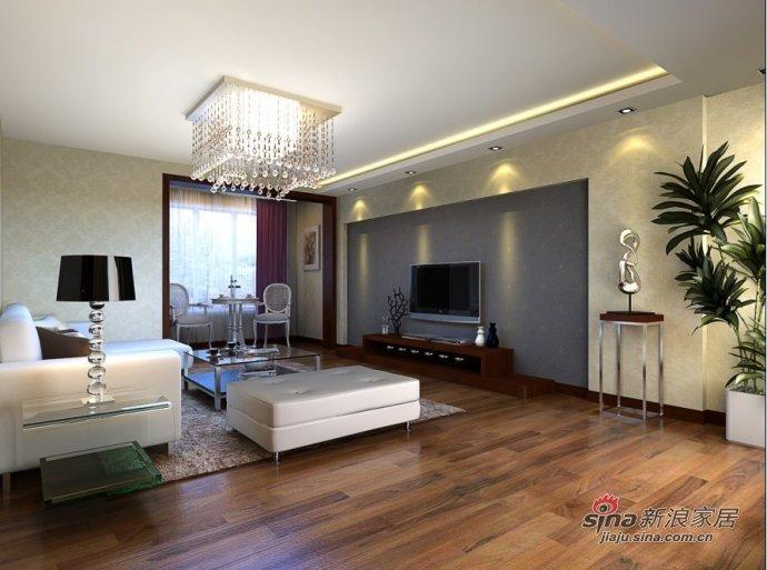 简约 三居 客厅图片来自用户2745807237在120平米简约实用三居室38的分享